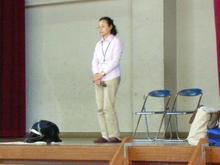 講師の先生と盲導犬候補生【クロッシュ】ちゃん